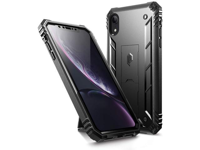 best website 6acbb 8c64d iPhone XR Rugged Case, Poetic Revolution [360 Degree  Protection][Kick-Stand] Full-Body Rugged Heavy Duty Case [Built-in-Screen  Protector] Apple iPhone ...