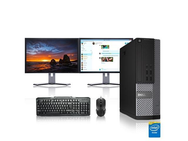 "Dell Optiplex Desktop Computer 3.3 GHz Core 2 Duo Tower PC, 6GB, 250GB HDD, Windows 10 x64, Office 365 Essentials, 19"" Dual Monitor , Radeon 128MB DDR2, USB Mouse & Keyboard"