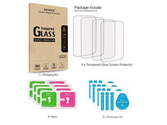 Pack of 4 AKWOX 0.3mm 9H Hard Scratch-Resistant Protector for Garmin Edge 1030 Tempered Glass Screen Protector for Garmin Edge 1030