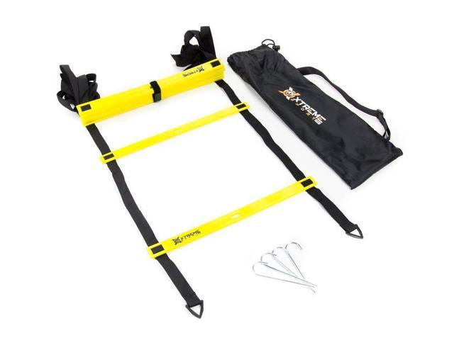 939019010 Premium Agility Speed Ladder - 13' Long with 12 Adjustable Rungs, Ideal for  Soccer/Football, Basketball, Hockey, Speed Training, Kids, Coaches and All  ...