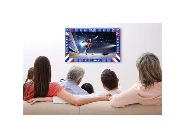 big sale 6b62a 44b85 Imperial Fan Shop 720801754062 New York Rangers NHL Big Game TV Frame - 1.5  x 8 x 36.5 in. - Newegg.com