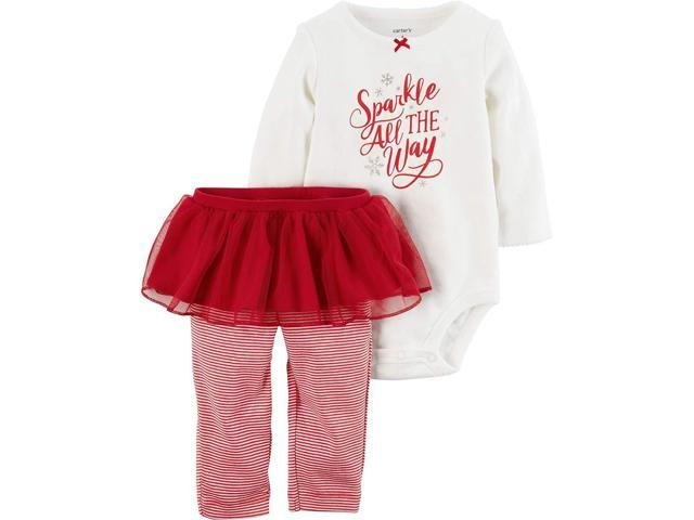 Carter S Baby Girls 2 Piece Bodysuit And Tutu Pants Set Newegg Com
