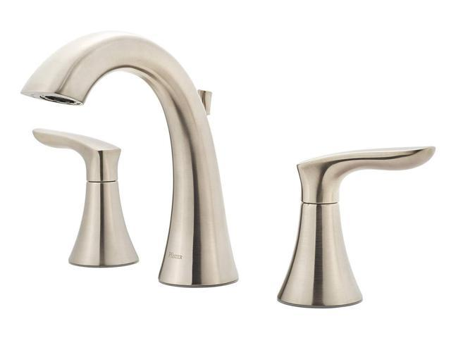Awe Inspiring Pfister Weller Lg49Wr0K Widespread Bath Faucet Brushed Nickel Finish Newegg Com Interior Design Ideas Gentotryabchikinfo