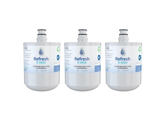 Replacement Water Filter Compatible with Kenmore 9890 Refrigerator Water  Filter - by Refresh (3 Pack) - Newegg com