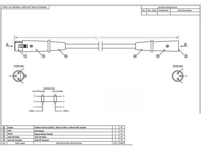 Xlr Male To Female Wiring Diagram