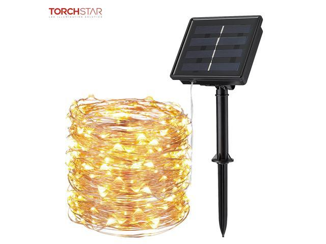 200LED 72ft Solar String Light 8 Modes Party Wedding Lawn Copper Wire Fairy Lamp