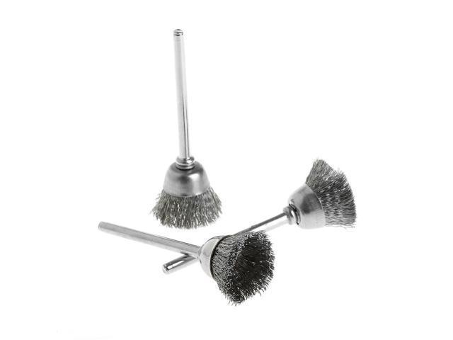 3pcs  set steel wire wheel brush head abrasive deburring drilling tools bowl-shape -y103
