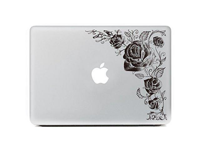 Flowers 5 Pattern H4S Removable Decorative PVC MacBook Decals Skin Stickers Mac Cover Decal for Apple MacBook Pro Air Retina13 inch A1278 A1369 A1466 A1304 A1425 A1502