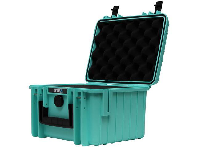 Waterproof Glass Protector STR8 Brand 10 with 3-Layer Pre Cut Grid Configuration Foam Outdoor Carrying Case for Multi-Purpose STR8BRAND Lockable Smell Proof