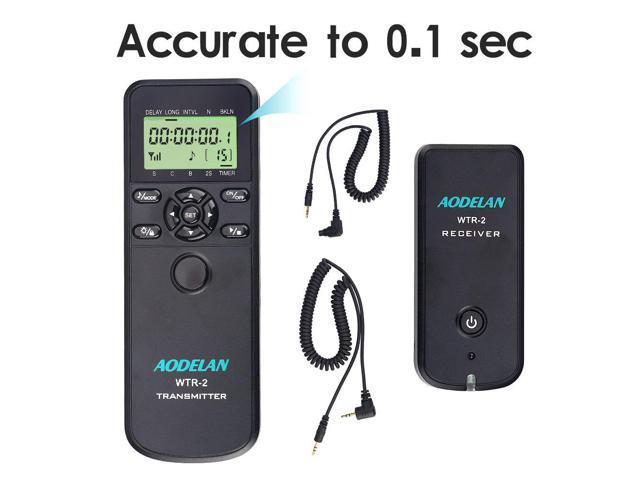 AODELAN WTR2 Camera Wireless Shutter Release Timer Remote Control for Sony  a7III, a9, a560, a700, a850, a900,a77, a99, A7, A7 II, A7R, A7R II,A7RIII,