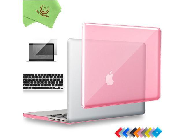 UESWILL 3 in 1 Glossy Crystal Hard Shell Case for MacBook Pro (Retina, 15  inch, Mid 2012/2013/2014/Mid 2015), Model A1398, NO CD ROM, NO Touch Bar +