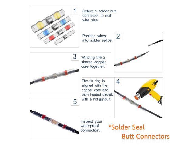 140 PCS Solder Seal Wire Connectors Sopoby Heat Shrink Solder Connectors