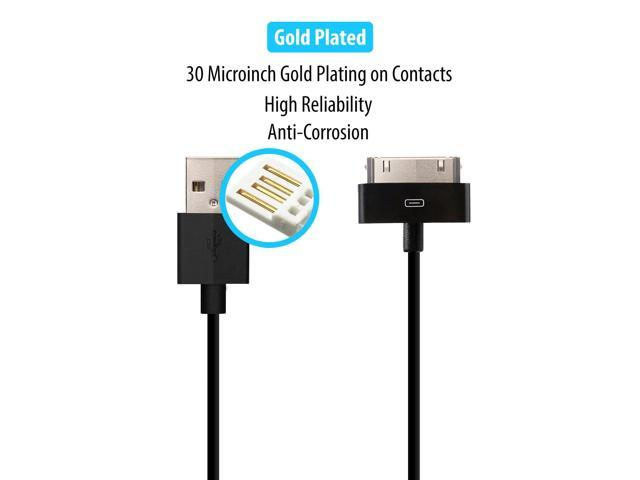2 Pack 30-pin to USB Cable Apple MFI Certified Sync Charge Short Cable 8 20cm for iPhone iPad iPod Classic iPod Nano iPod Touch