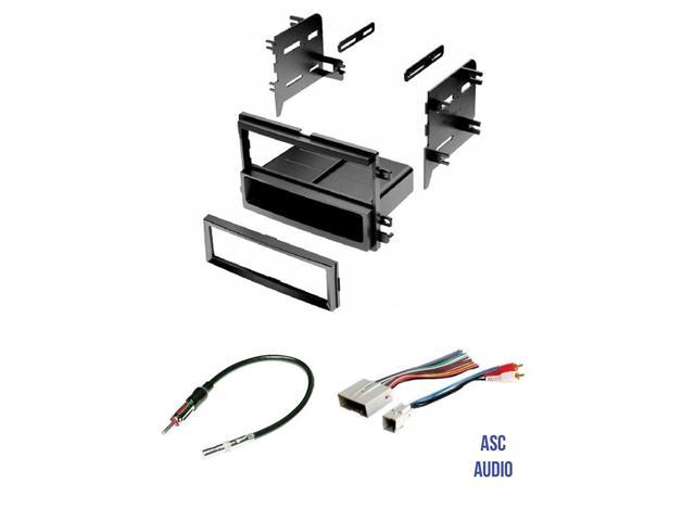 ASC Audio Car Stereo Radio Install Dash Kit, Wire Harness, and Antenna on