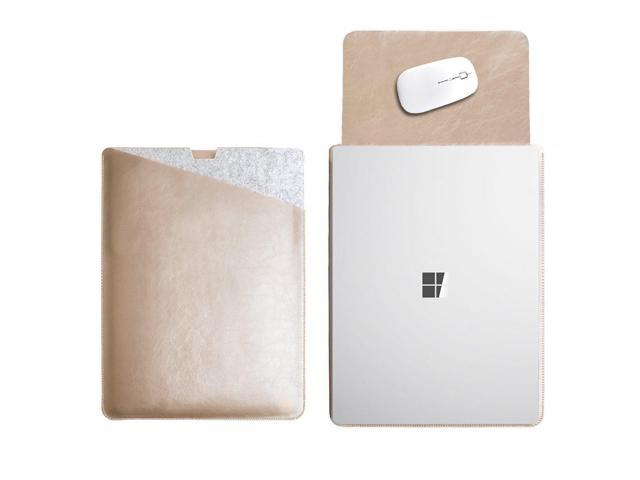 WALNEW 13.5 Sleeve for Microsoft Surface Laptop 13.5 Inch Surface Laptop 2 Protective Soft Sleeve Case Cover Bag with Safe Interior and Exterior Mouse Pad,Gold