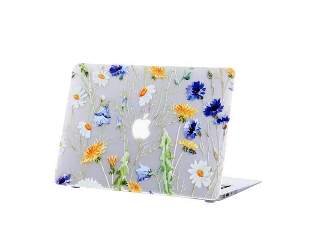 buy online 6ae5a 8112e iDonzon MacBook Air 13 Case, 3D Effect Matte Clear See Through Hard Case  Cover Only Compatible MacBook Air 13 inch (Model: A1369 & A1466) - Floral  ...