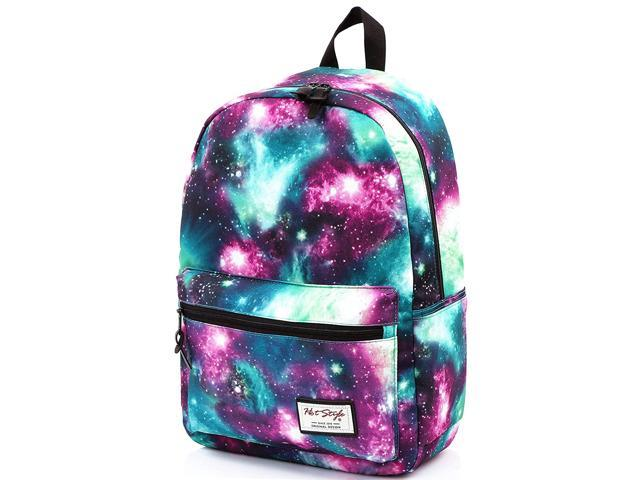 "TRENDYMAX Galaxy Backpack Cute for School16/""x12/""x6/""Holds 15.4-inch Laptop"
