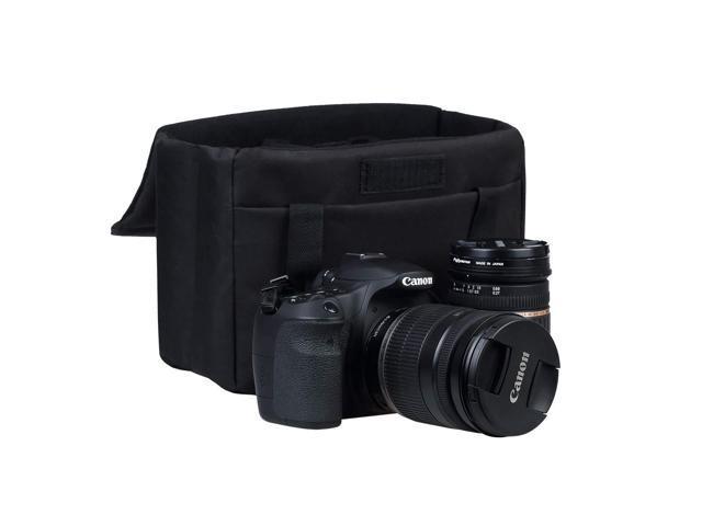 Black Camera Bag Insert BOMKEE DSLR SLR Waterproof Foldable Camera Inner Case for Sony,Canon,Nikon,Olympus