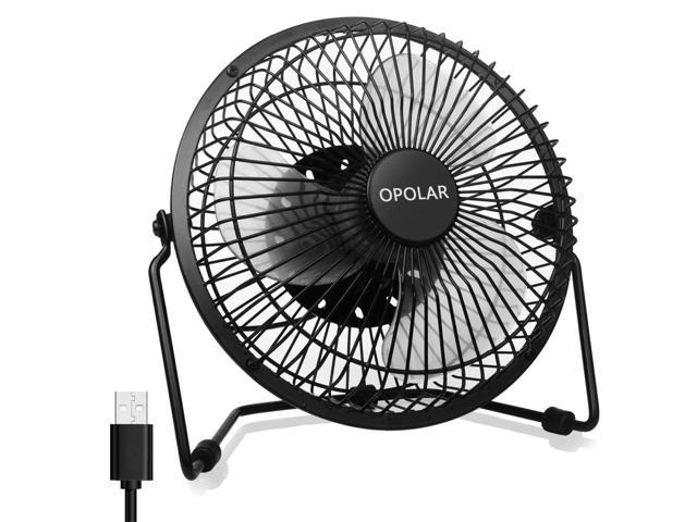 Opolar Office Quiet Desk Fan Usb Ed Only 360 Degree Rotation Perfect Personal Mini Metal Cooling Dorm Table 5v 6 Inch