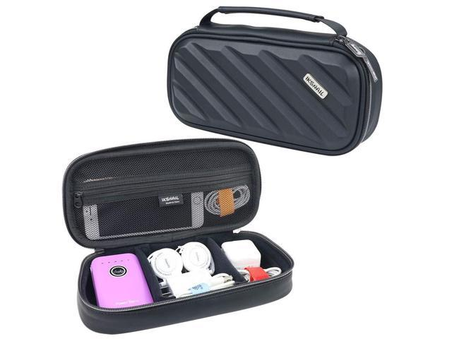 4bbd2c2b41fb Iksnail Electronics Organizer Travel Bag, Double Layer Hard Gadget  Accessories Storage Carrying Pouch for USB Cable, SD Card, USB Drive, Hard  Drive, ...