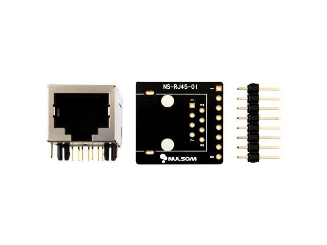 NulSom Inc and Breakout Board Kit for Ethernet DMX-512 RS-485 RS-422 RS-232 Unassambled 8P8C 2 Pcs RJ45 8-pin Connector