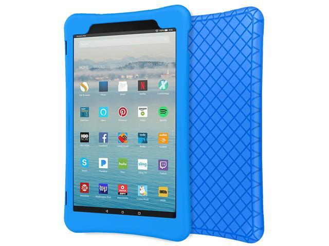 best service c9fb7 6baee MoKo Case for All-New Amazon Fire HD 10 Tablet (7th Generation, 2017  Release) - [Honey Comb Series] Light Weight Shockproof Soft Silicone Back  Cover ...