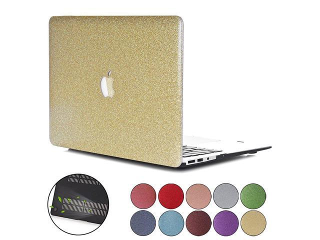 separation shoes b4b5e 8d02a PapyHall MacBook Pro 13 inch Retina Case, Bling Bling Crystal Rubberized  Coated Hard Cover Case Colored Glitter Design Plastic Hard Case for Macbook  ...