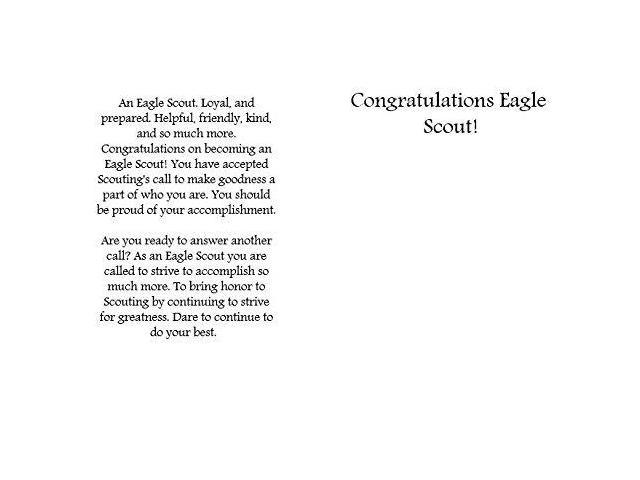 photograph about Eagle Scout Congratulations Card Printable referred to as Eagle Scout Congratulations Card: Pack of 6 (3 Plans) -