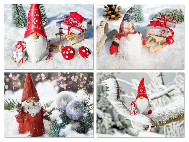Christmas Gnomes.Christmas Gnomes Blank Note Cards Holiday Greeting Cards With Envelopes 4 Unique Designs 5 5 X4 25 12 Pack Newegg Com