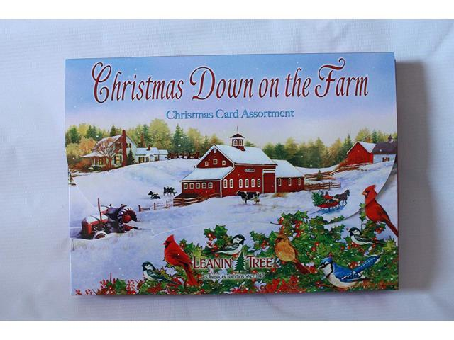 Leanin Tree Christmas Cards.Leanin Tree 20 Pack Design Christmas Cards Christmas Down On The Farm Made In Usa Newegg Com