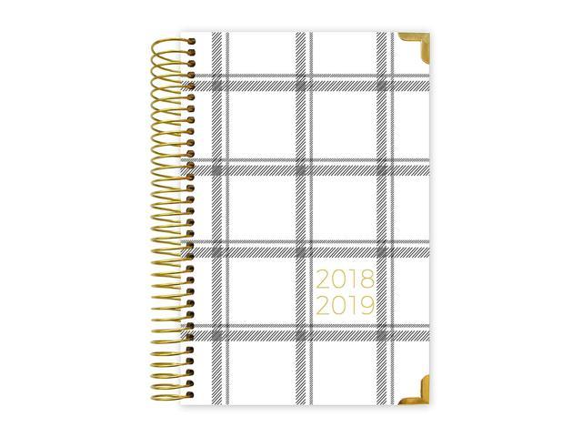 image about Hardcover Daily Planner identify bloom day by day planners 2018-2019 Instructional Yr HARDCOVER Working day Planner - Regular monthly/Weekly Calendar E book - Inspirational Dated Program Organizer - (August