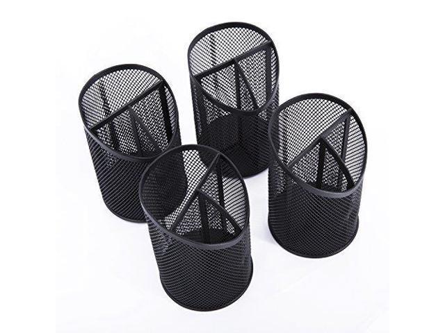 Designa Mesh Pencil Holder Organizer For Office Supplies Desk Accessories Black 4 Packs Newegg Com