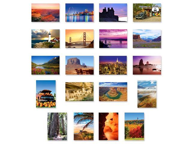 America The Beautiful Postcard Set Of 20 Post Card Variety Pack Depicting United States Travel Sites And American Theme Postcards Made In Usa