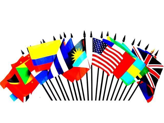 "4/""x6/"" Denmark Stick Flag Table Staff Desk Table"