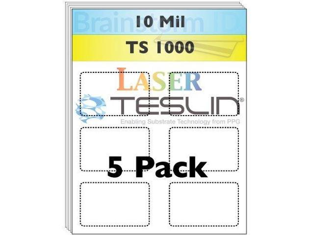 Perforated Inkjet Teslin/® Synthetic Paper 5 Sheets Brainstorm ID