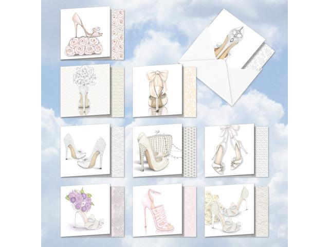 Amq5052wig B1x10 Bride Itude Wedding Invitations Assorted Bulk Set Of 10 Innovative Square Top Cards Featuring Images Of Creative And Fun Designs