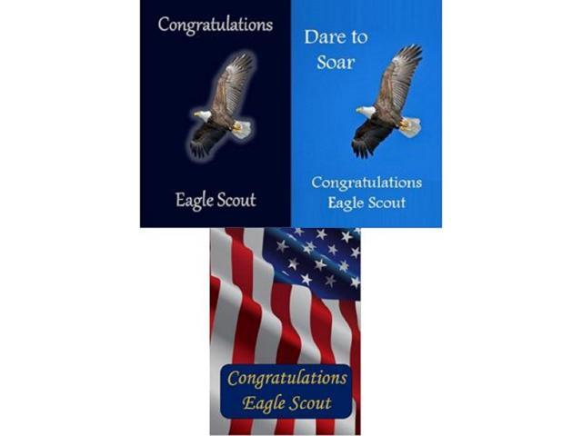 graphic relating to Eagle Scout Congratulations Card Printable identify Eagle Scout Congratulations Card: Pack of 6 (3 Models) -