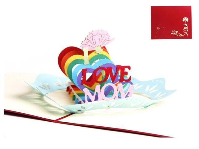 Birthday card Handmade Pop Up Romantic birthday gifts for women - gift for  women,Birthday, Graduation, Anniversary, Wife, Boyfriend, Girlfriend (mom