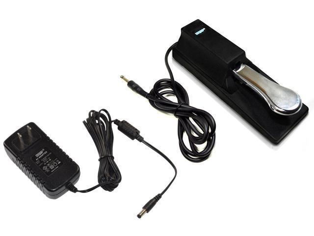 HQRP AC Adapter & Sustain Pedal for Yamaha YPG-235 YPG-535 YPT-230 DGX-230  DGX-530 DGX-640 Piaggero NP11 NP31 NPV80 PSR-175 PSR-172 PSR-E303 DGX-203