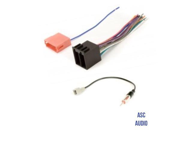 ASC Audio Car Stereo Radio Wire Harness and Antenna Adapter to Aftermarket  Radio for some Kia and Hyundai Vehicles.- vehicles listed below - Newegg.comNewegg.com