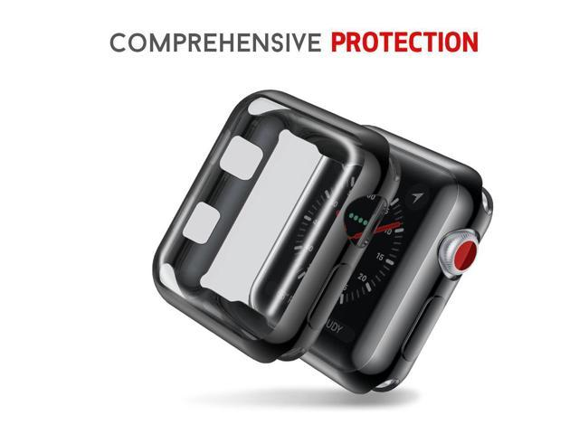 size 40 c0025 2b159 Smiling Apple Watch 3 Case Buit in TPU Screen Protector All-Around  Protective Case High Definition Clear Ultra-Thin Cover for Apple Watch 38  mm Series ...