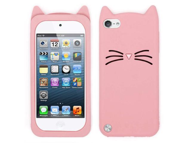 For Ipod Touch 6 Case Ipod Touch 5 Case Fashion 3d Cute Cartoon Mustache Cat Case