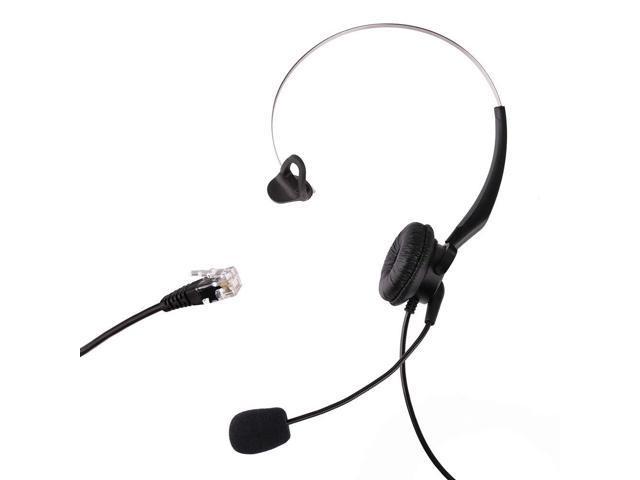 LotFancy Calltel Headset Headphone with Mic for Cisco IP Phone 7931 7940  7941 7942 7945 7960 7961, Plantronics Vista Modular Adapter M10 M12 M22  MX10,