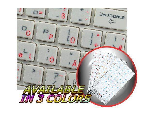 Persian FARSI Sticker for Keyboard RED Lettering Transparent Background is Compatible with Apple