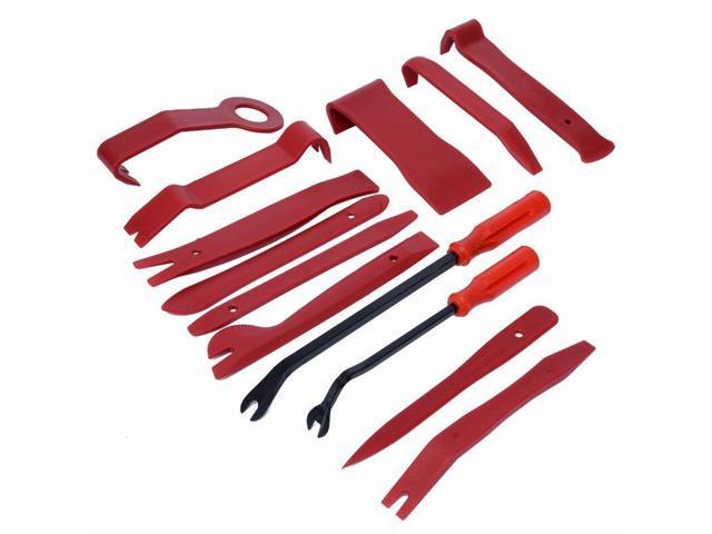 13Pcs/Set Car Radio Open Removal Repair Tool Plastic Red Auto Door Dash  Audio Panel Trim Install Open Pry Kit - Newegg com