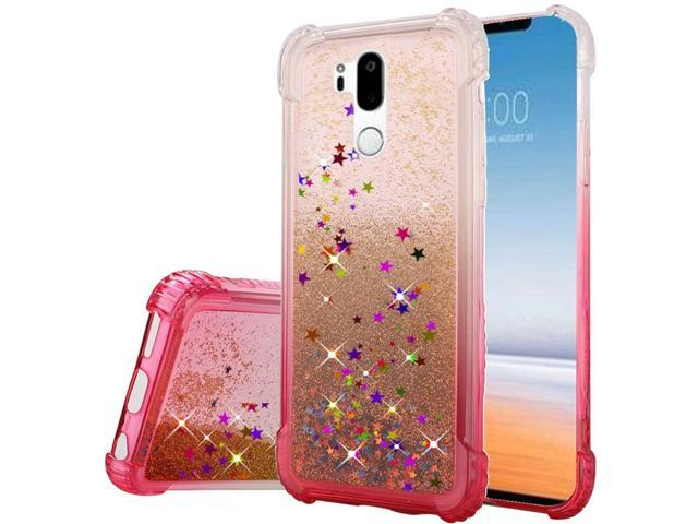 LG G7 ThinQ Case, by Insten Two Tone Quicksand Glitter Hard Plastic/Soft  TPU Rubber Case Cover For LG G7 ThinQ, Hot Pink - Newegg com