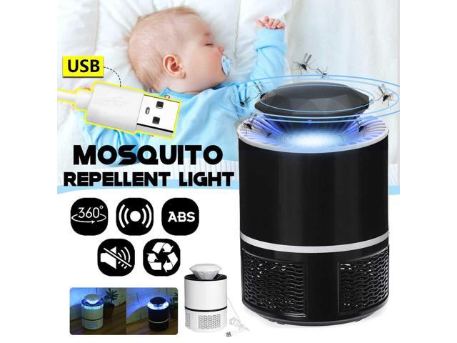 USB Electric Mosquito Insect Bug Zapper Repellent Light Killer  Non-radiation Mute LED Insect Trap No Radiation Night Lamp - Newegg com