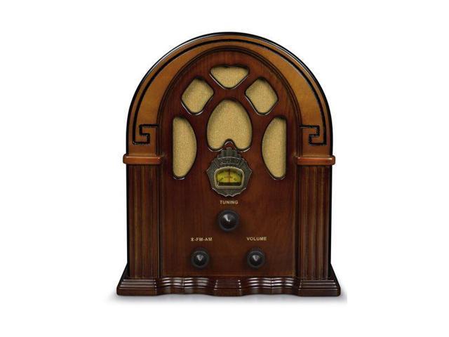 Walnut Crosley CR31D Companion Retro Am//FM Tabletop Radio with Bluetooth Receiver