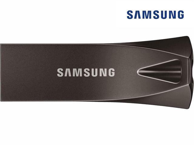 SAMSUNG 64GB BAR Plus (Metal) USB 3.1 Flash Drive, Speed Up to 200MB/s (MUF-64BE4/AM) - Black