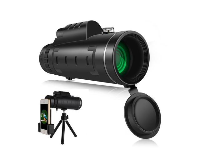 Dual focus zoom monocular telescope wide angle